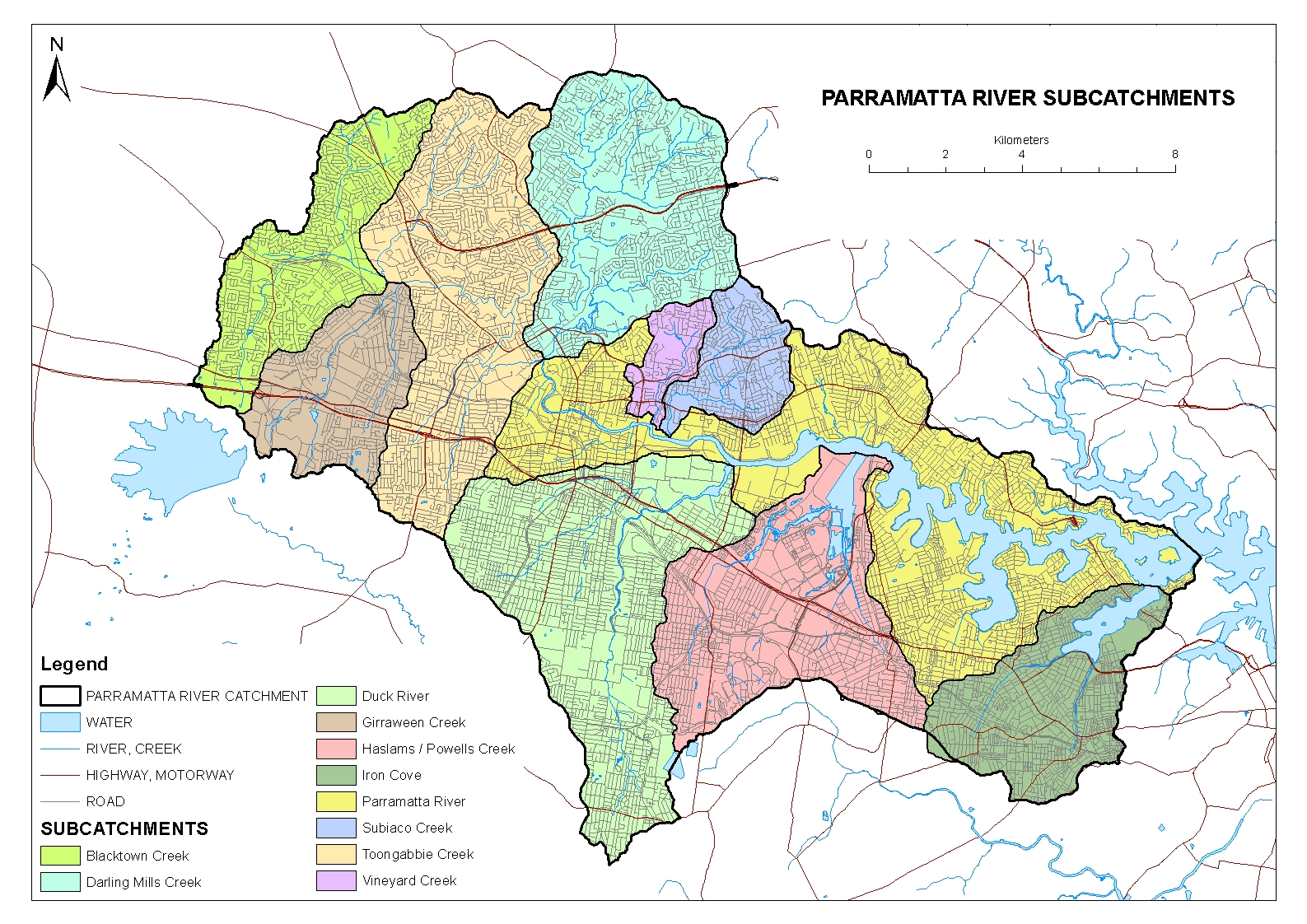 Parramatta River Catchment Group Maps