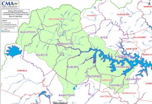 Map - Parramatta River Catchment Group - Area of Operations